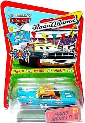 The World of Cars Race-O-Rama Mario Andretti with Red Rims Diecast Car #97, used for sale  Suffern