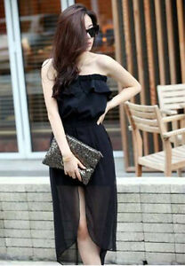 2 Color Korean Summer Fashion Sexy Elegant Split New Tube Personality Umpsuit