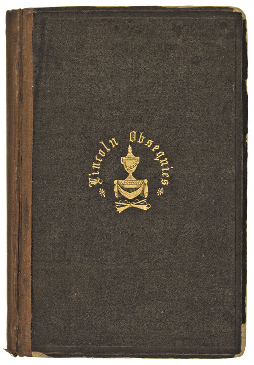 1866-dated Book, Obsequies Of Abraham Lincoln