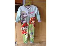 Paw Patrol onesie, age 4-5 years