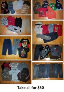 4T Boy Clothing Lot 1 (Take 44 Pieces for $50)