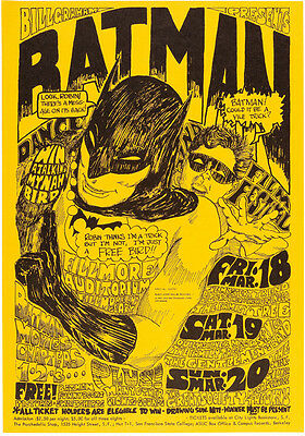 Big Brother and the Holding Company Batman Concert Poster 13x19