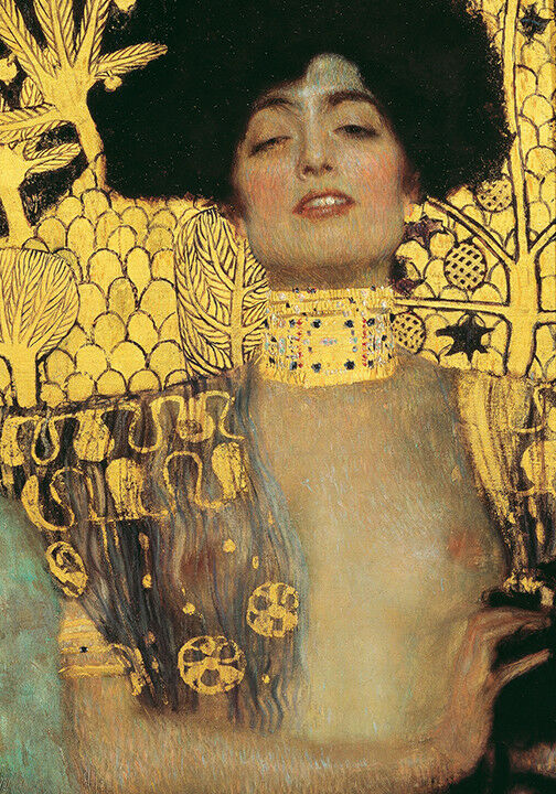 A4 size 21x29.7cm QUALITY Canvas Print Unframed Gustav Klimt The Virgin