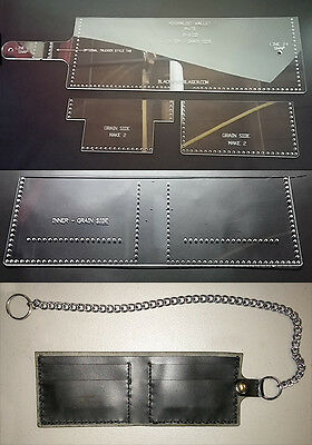 Basic Templates Set (BASIC WALLET TEMPLATE SET - PRECISION LASER CUT - FOR LEATHER CRAFTERS  - MWTS )