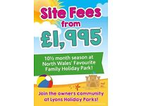 Site Fees from just £1995 | Family Friendly Holiday Park on North Wales Coast near Prestatyn/Rhyl