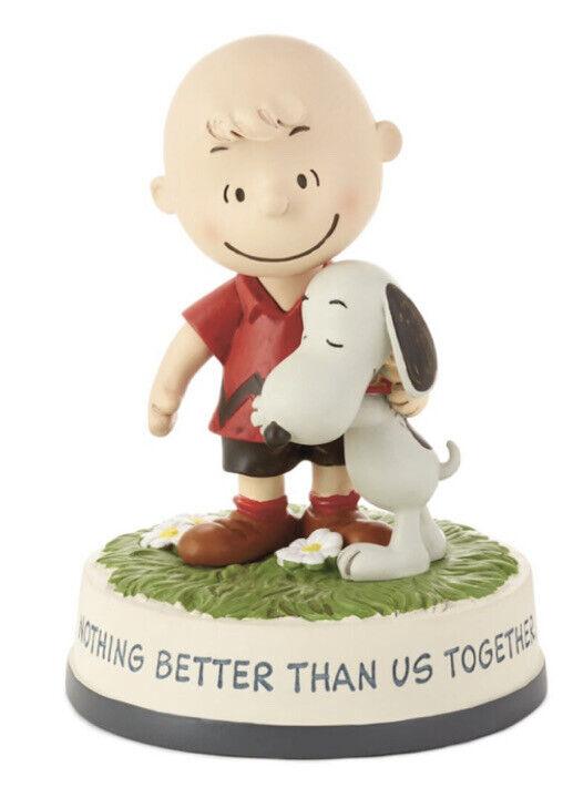 Peanuts Charlie Brown and Snoopy Together Hallmark Figurine
