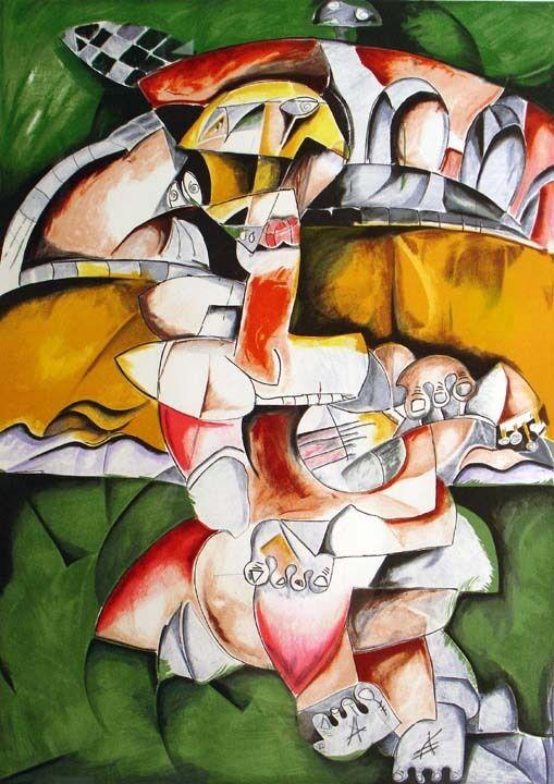 """Alexandra Nechita """"No Bridge Too Far"""" Signed Lithograph Art w/ CoA MAKE OFFER!"""