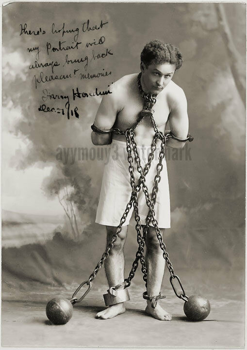 "Harry Houdini - 8""x10"" Autographed Sepia Toned Photo - RP"