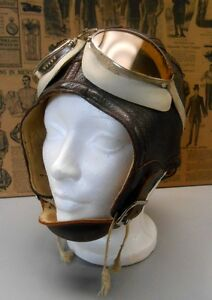 Casque d'Aviateur WWII Antique - Rare