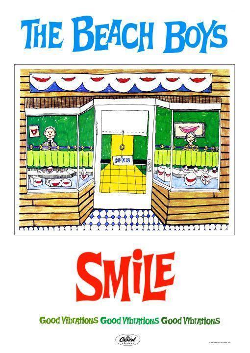 the Beach Boys *POSTER* - SMILE Promo Ad Print - Good Vibrations  -Brian Wilson