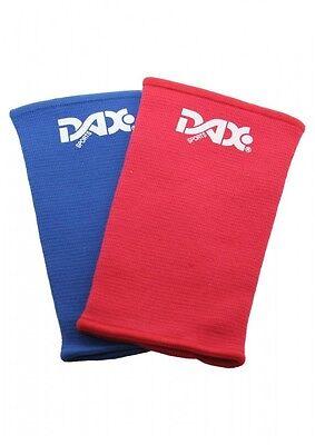 Dax-Sports- ARM-STULPEN-SET, ROT UND BLAU. für Ju-Jutsu Kampfrichter. unisize.
