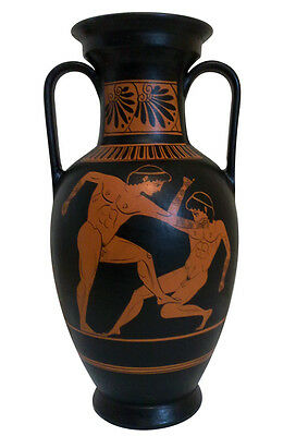 Ancient Greek Olympic Boxers Vase Museum Replica Reproduction