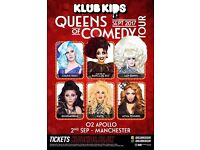 3 tickets for Comedy Queens at O2 Manchester 2nd September