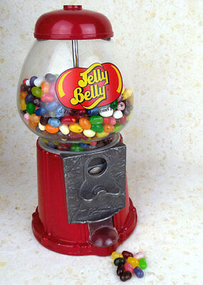 Jelly Belly table top coin vending machine stocked with fresh candy