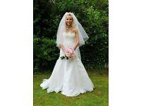 Caroline Castigliano Wedding Dress & Veil Size 8