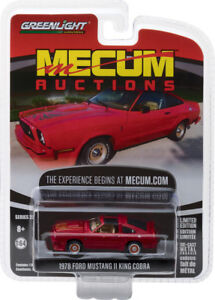 Greenlight Mecum Auctions 1978 Ford Mustang II King Cobra Red