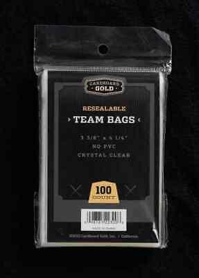 500 (5 Packs) CBG PREMIUM Resealable Ultra Team Bags NEXT GENERATION Pro TB