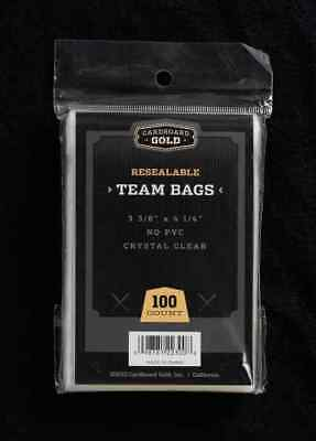 200 (2 Packs) CBG Premium Resealable Ultra Team Bags Toploader Sleeves Pro - New