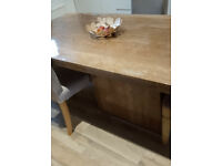Travertine Dining table bought at Barker and Stonehouse. 2 metres x 1 metre.