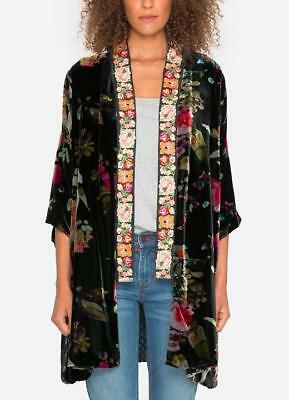 Nwt Johnny Was Kehlani Reversible Velvet Kimono Jacket Cardigan Silk Sz Xxl  1X