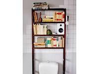 Open storage with built in toilet roll holder birch