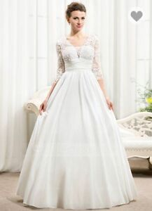 Plus Size Ivory Wedding Dress