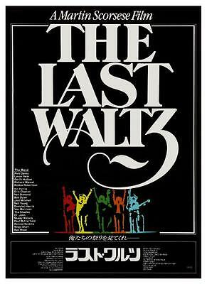 Last Waltz POSTER the Band Eric Clapton Bob Dylan Martin Scorcese Joni Mitchell