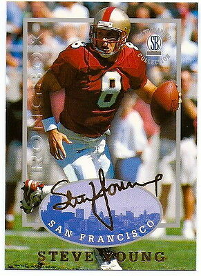 STEVE YOUNG 1997 AUTOGRAPHED COLLECTION CARD! 49'ERS!!! HALL OF FAME (Young Autographed Card)
