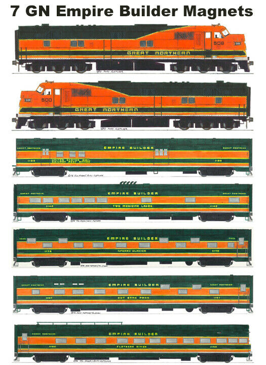 Great Northern Empire Builder 7 magnets by Andy Fletcher