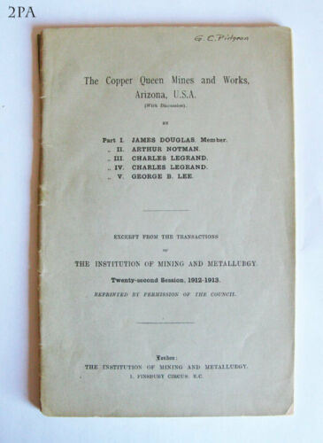 COPPER QUEEN MINES AND WORKS ARIZONA 1913 - RARE BISBEE OLD MINING MINE BOOK