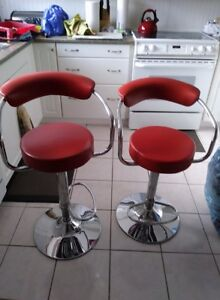 Barstools 2 Red