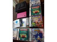 Nintendo DSi Bundle With Games Gameboy DS Hot Pink & Black