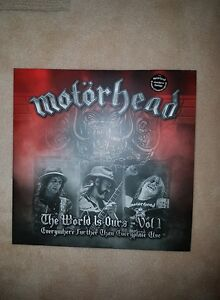 MOTORHEAD THE WORLD IS OURS DOUBLE VINYL ! BRAND NEW !