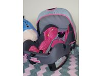 DISNEY MINNIE MOUSE Baby Car seat 0-13kg Used