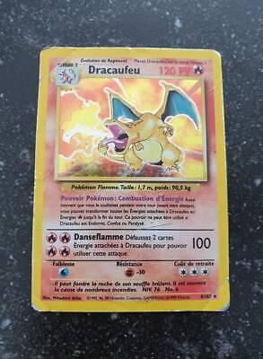 Pokemon Dracaufeu set de base francais holo 4/102