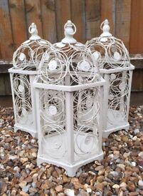Ornamental bird cages perfect for Weddings, Christmas or any special occasion