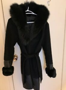 Danier Wool/Leather/Fur Winter Coat **Retailed at $1000**