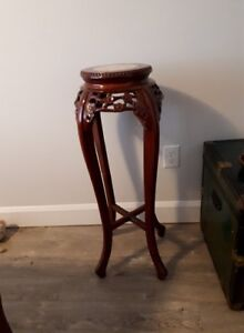 Beautiful solid wood stand.