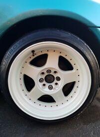 Alloy Wheels - Keskin KT1 White 16inch deep dish Mx5 mazda