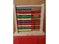 Melissa & Doug Classic Wooden Abacus.never been used.