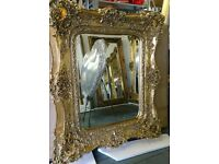 Antique Gold Ornate twin frame mirror !!