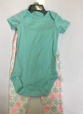 18m Carters 2 Piece (NWOT CARTERS GIRLS 2 PIECE SET- MINT/ WHT- 18M )