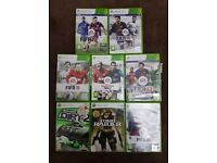 Xbox 360 Console + 8 Games + 3 Controllers