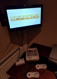 Retro Super Nintendo Console With Games & Two Controllers Snes Vintage Rare