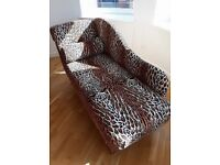 Leopard skin Chaise