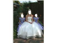 GORGEOUS IVORY LACE-UP BACK WEDDING DRESS