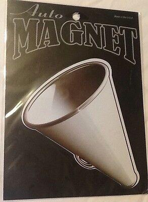 Megaphone Magnet Cheerleader Magnetic Car Auto Sport Kitchen Fridge (Megaphone Magnet)