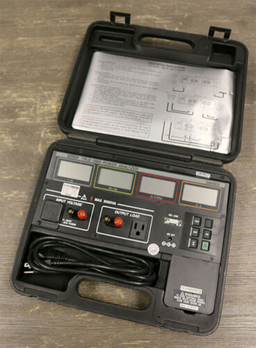 Extech 380801 True RMS Single Phase Power Analyzer