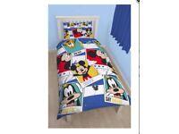 Brand New Mickey Mouse Single Duvet Set