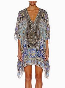 Camilla 'Weave of Humanity' Short Lace Up Kaftan BNWT Allambie Heights Manly Area Preview